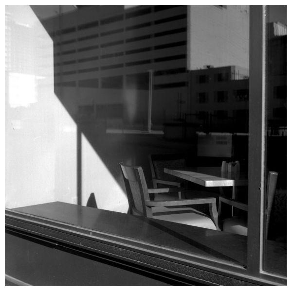 president hotel, kcmo - b&w photo, rolleiflex