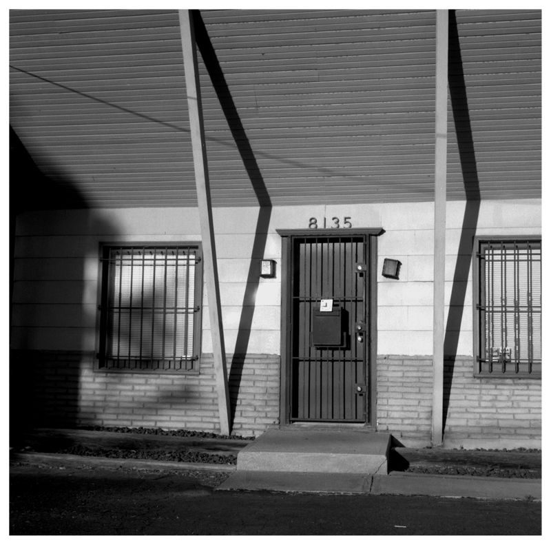 wornell road business - b&w photo - rolleiflex