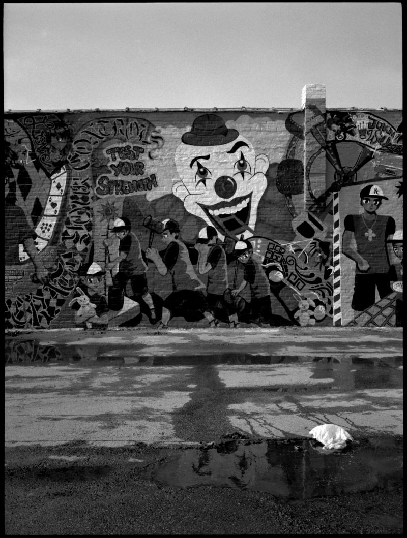 dollar store mural - b&w photo - fuji gs645