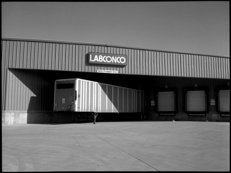 labconco building - b&w photo - fuji gs645
