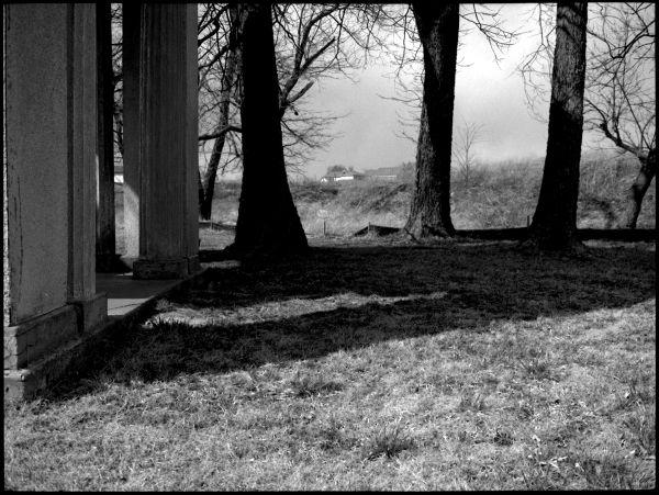 longview farm - b&w photo