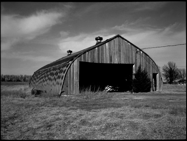 kansas farm barn photograph b&w