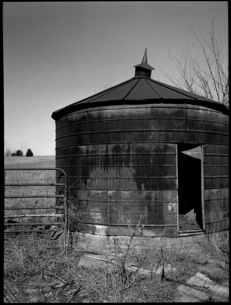 b&w photograph, farm photo, rural kansas