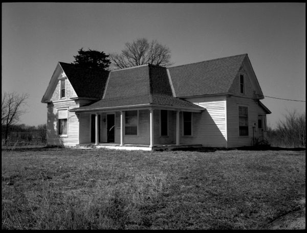 abandoned house, glenaire missouri, photograph