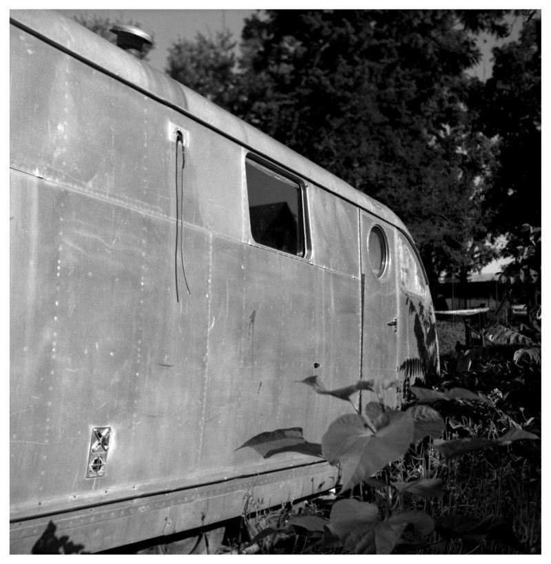 old aluminum camper - rural kansas - photo