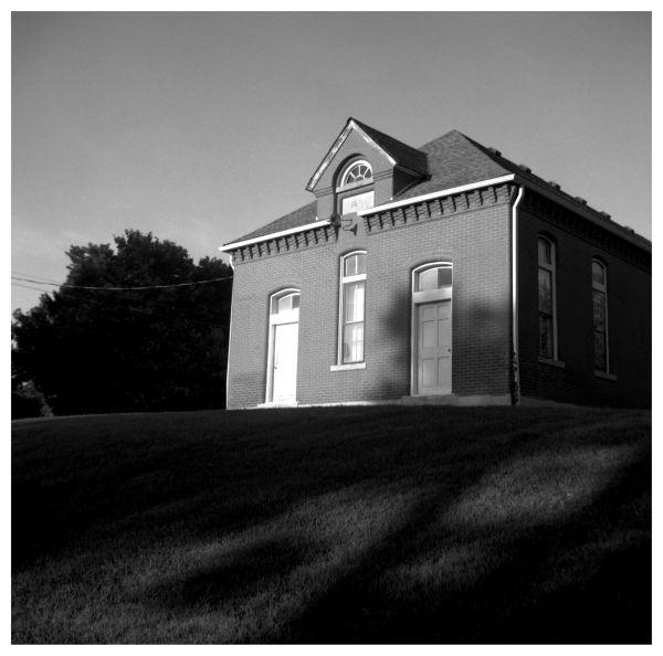 brick house on a hill - sabetha, kansas - photo