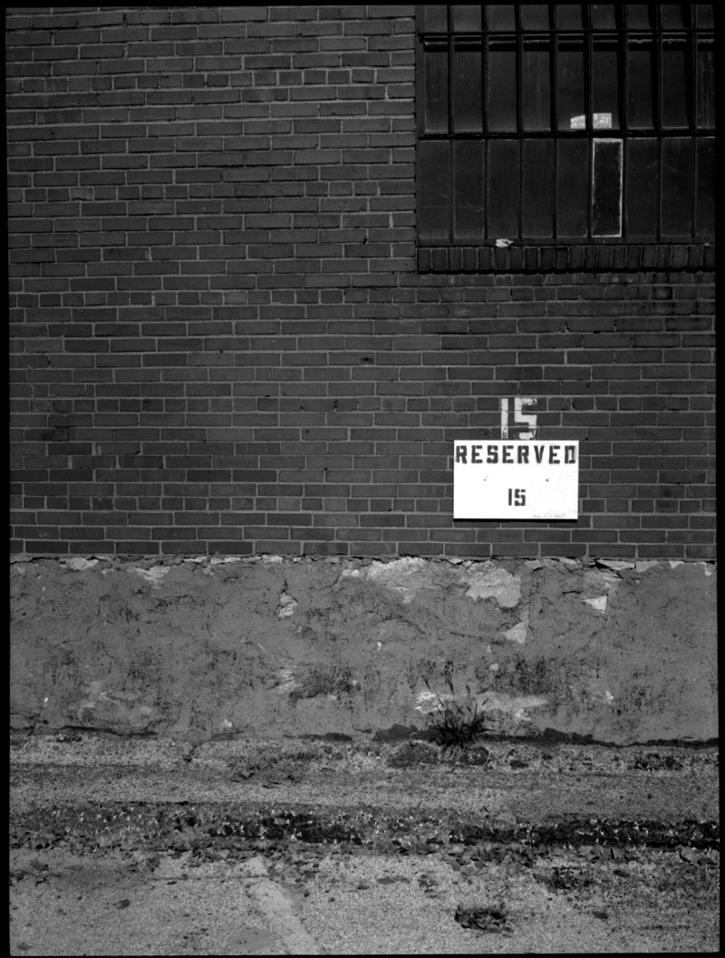 reserved parking sign - kcmo - photo