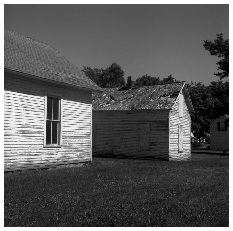 old church in highland, ks - rolleiflex photograph