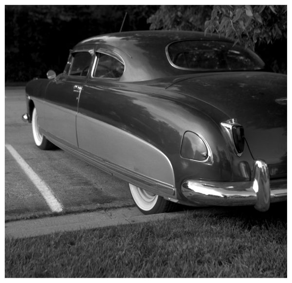 hudson car - grant edwards photograph, b&w