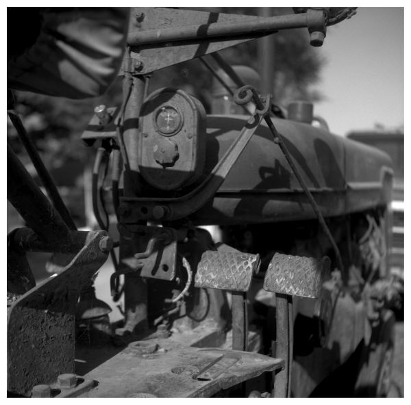 old tractor - grant edwards photograph, b&w