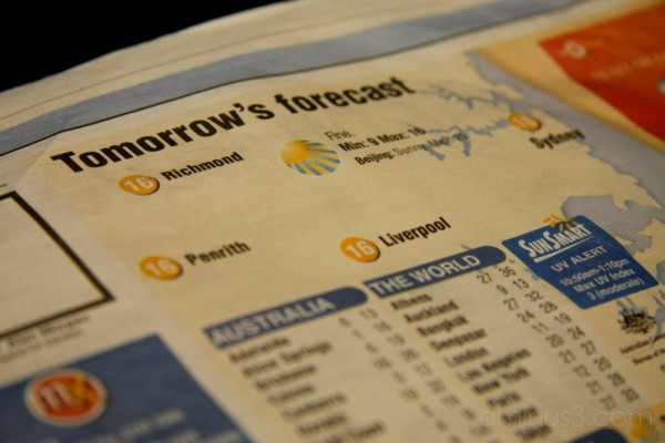Tomorrow's Forecast.. Richmond