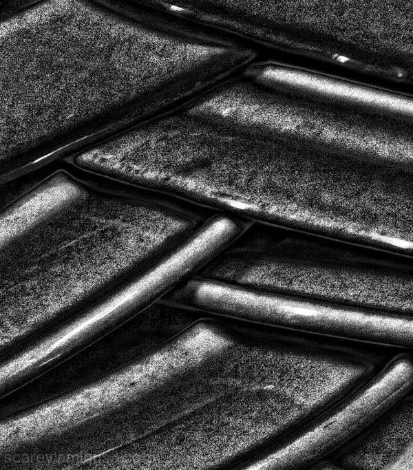 Abstract Stacked Plates in Charcoal Tones