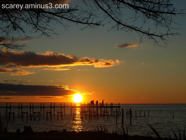 A February Sunset on Mobile Bay