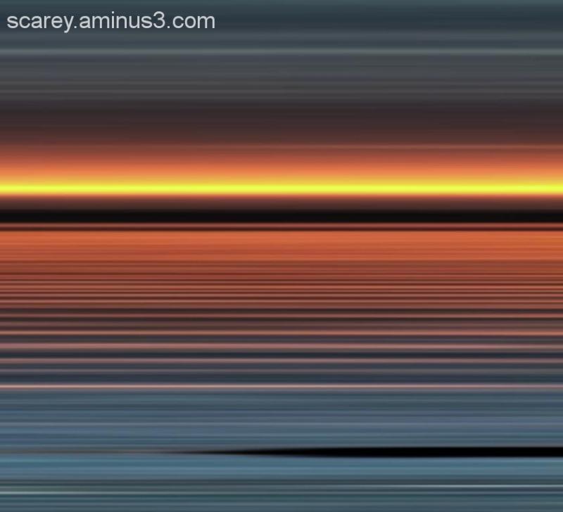 Minimalist sunset Mobile Bay Alabama