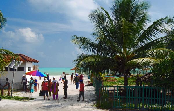 The Minicoy beach