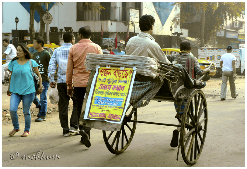 The rickshaw pullers of Kolkata!