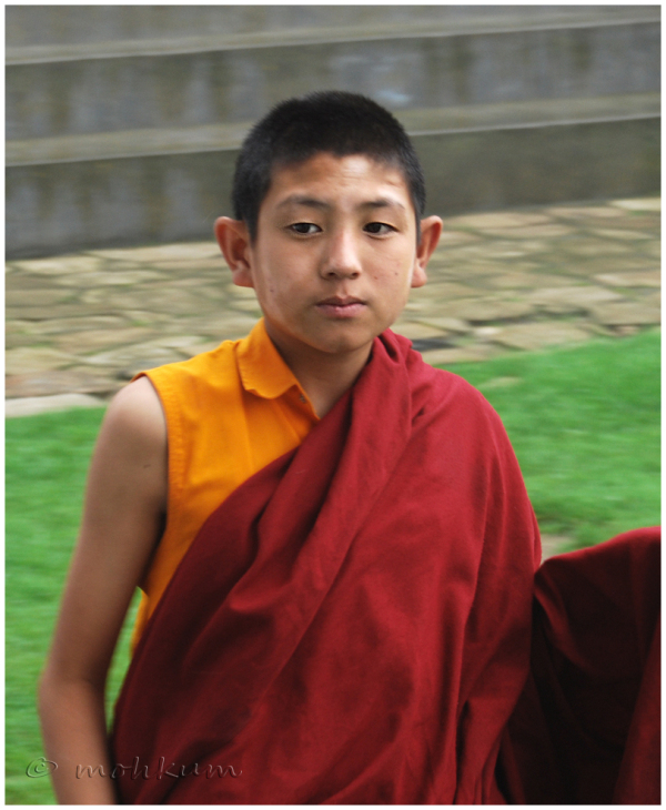 An young buddhist monk!