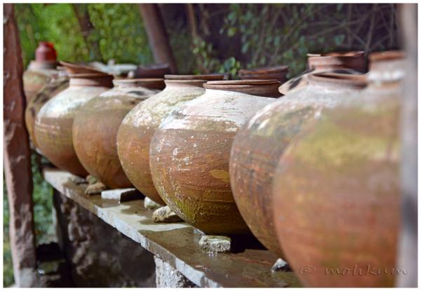The water pots near a temple, Pushkar, Rajasthan