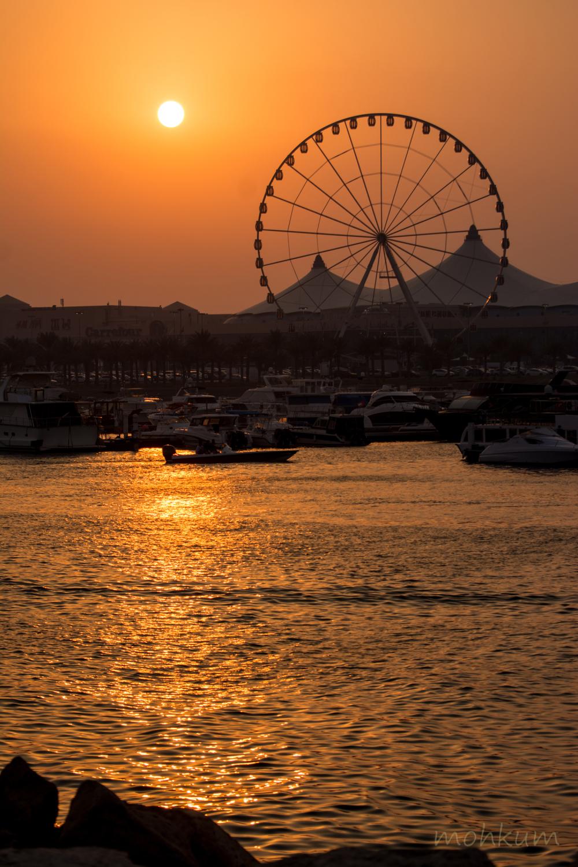 sunset corcniche abu dhabi