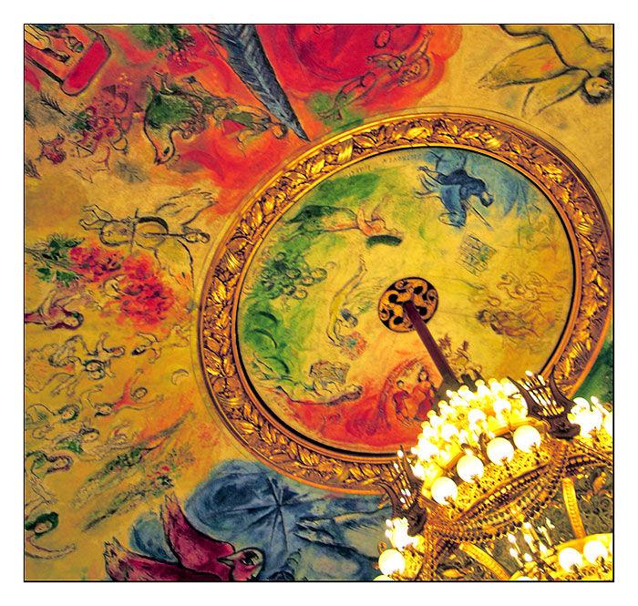 Le plafond de l'Opéra