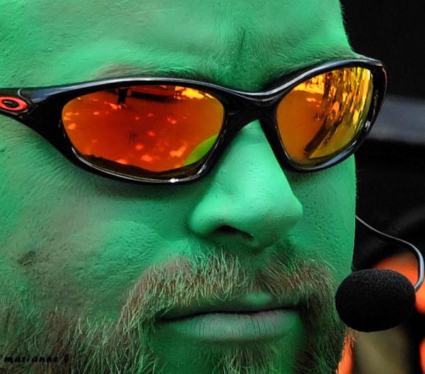 Men in green ...