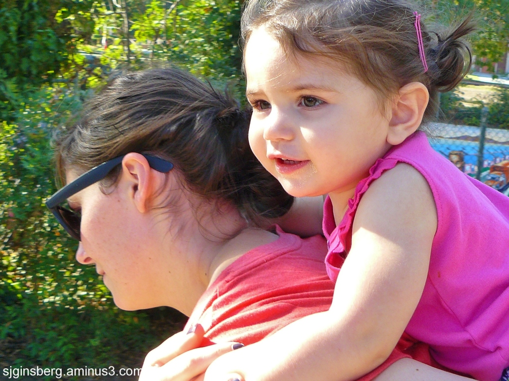 Piggy-back Mom and Daughter