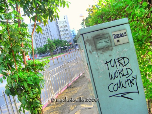 turd world country...