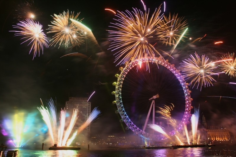 new year's eve fireworks display
