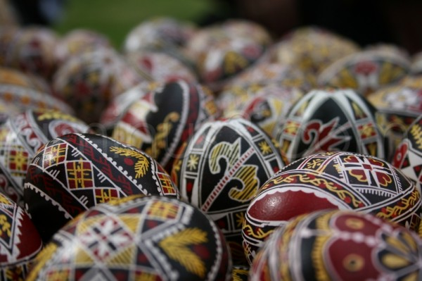 Romanian Easter eggs, hand-painted