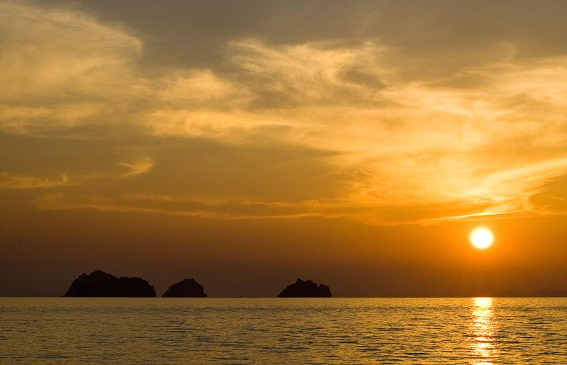 sunset zonsondergang Koh Samui Thailand