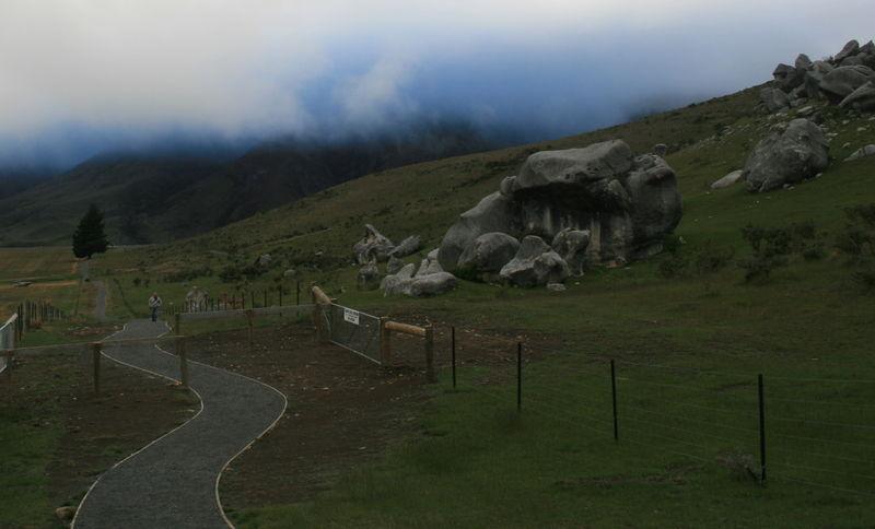 Walkway of Boulders and Blues