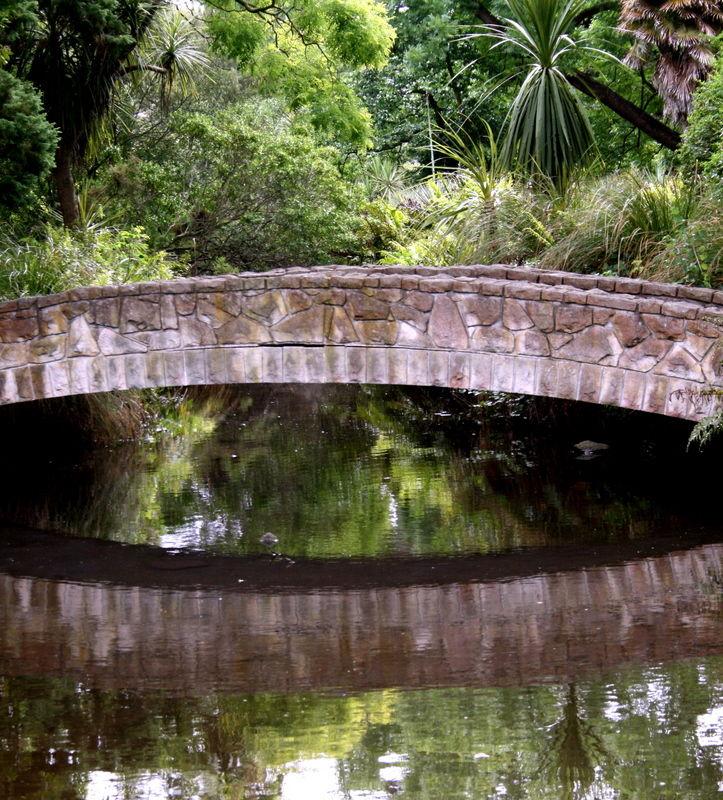 bridge reflected.