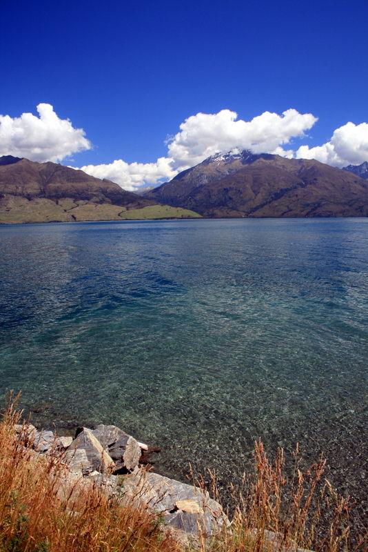 View down the lake
