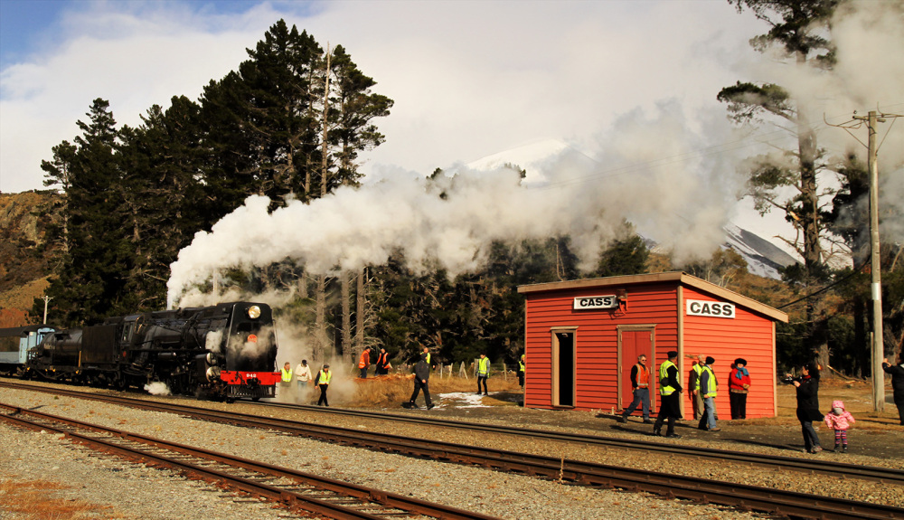 Steam Train and Enthusiasts