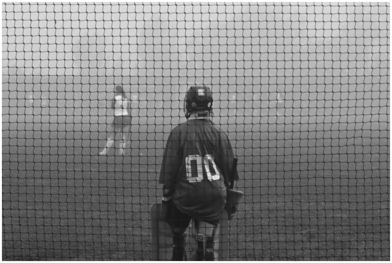 Goalie in Fog