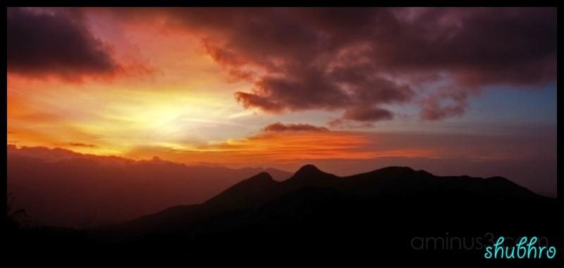 Kodai Sunset colours