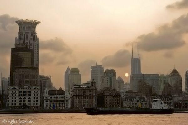 Shanghai Bund, Sunset