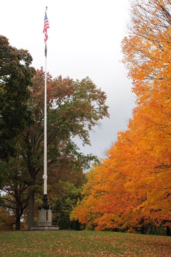 Central Park flag pole....