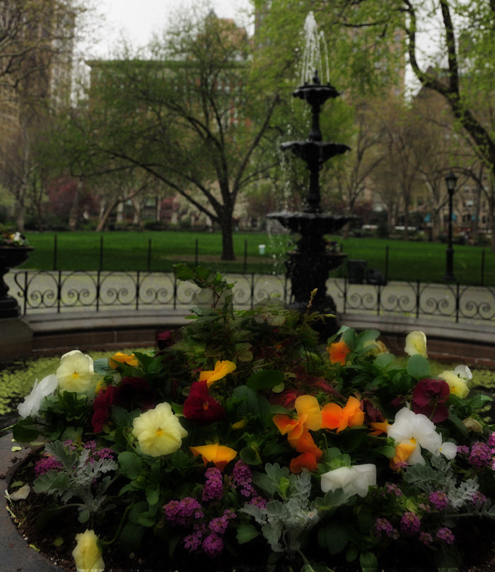 Fountain in Madison Square Park