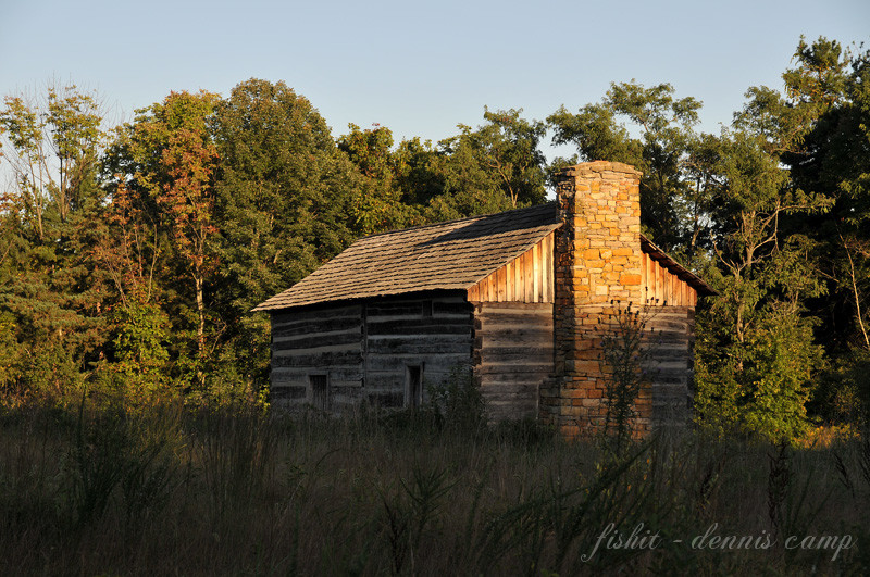 Abner Hollow Cabin Sunset