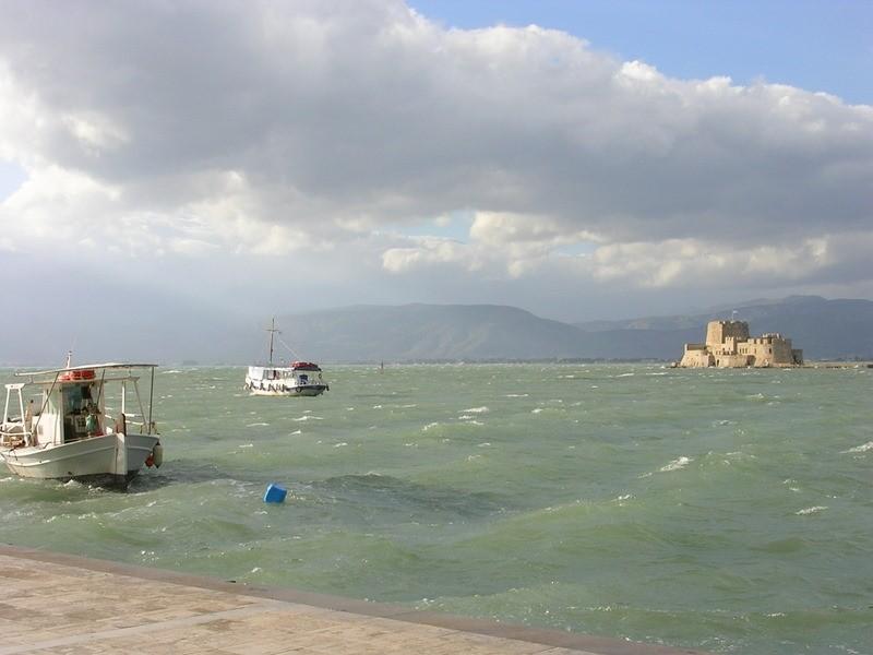 View from Bourtzi ,  Nafplio  (Peloponnese-Greece)