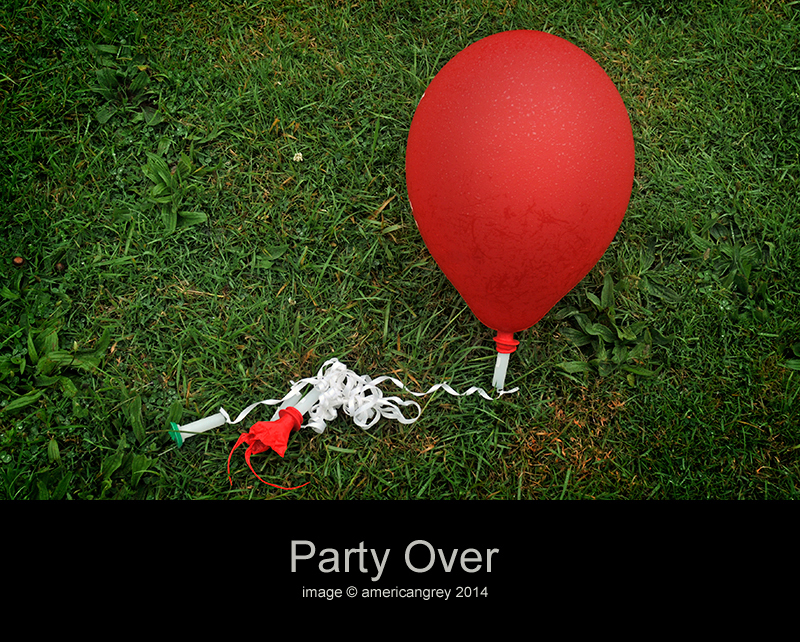 Party Over . .