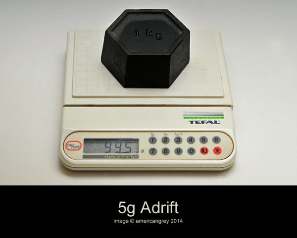 5g and 1 day adrift