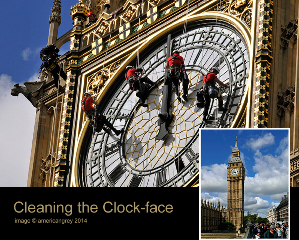 Cleaning the Clock-Face