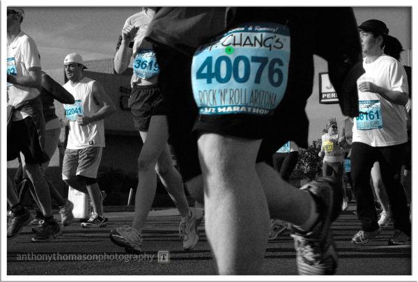 PF Chang's half marathon runners, Phoenix, AZ 2009