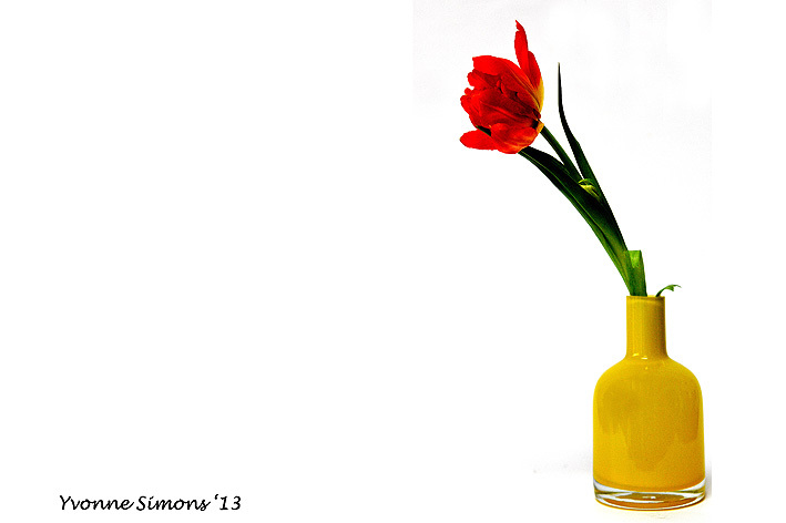 The yellow vase #13