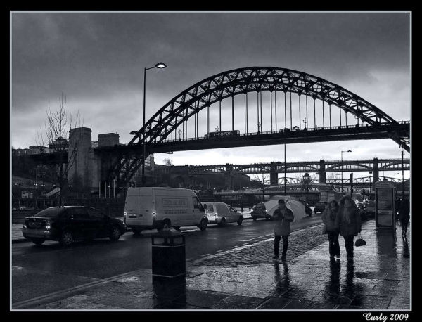 Newcastle Quayside and the Tyne Bridges
