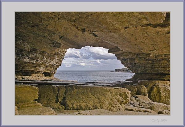 Rugged coastline at South Shields