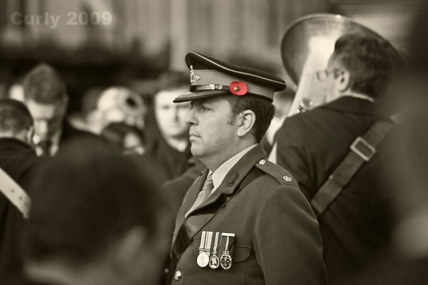 Soldier, Remembrance Sunday, South Shields, Westoe