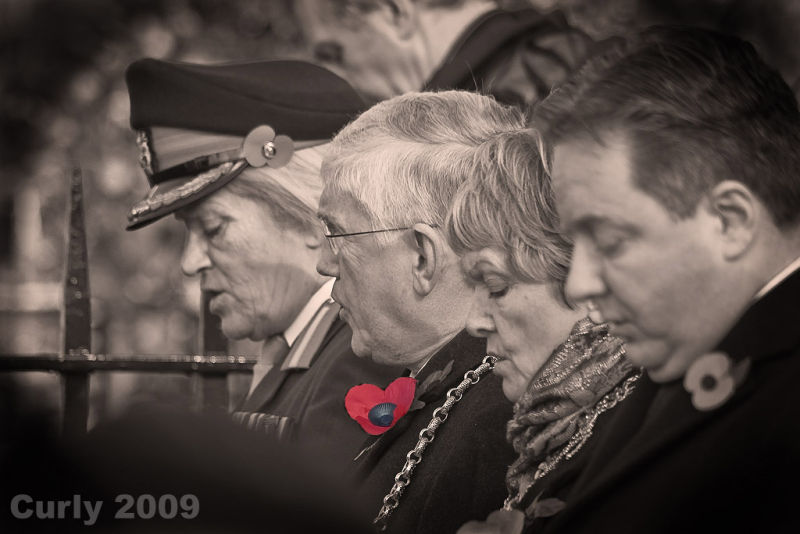 Civic leaders at Remembrance Sunday in South Shiel